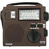 TECSUN GR-88 Emergency Hand Crank Dynamo with Fine Tuning Flash Light FM AM Battery Powered Portable Radio