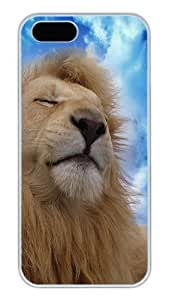iPhone 5S Cases and Covers,Lion Sky Clouds Kicks Custom Slim Hard Case Snap-on PC Plastic Case Cover Shell for Apple iPhone 5S/5 White 9955824M42361352