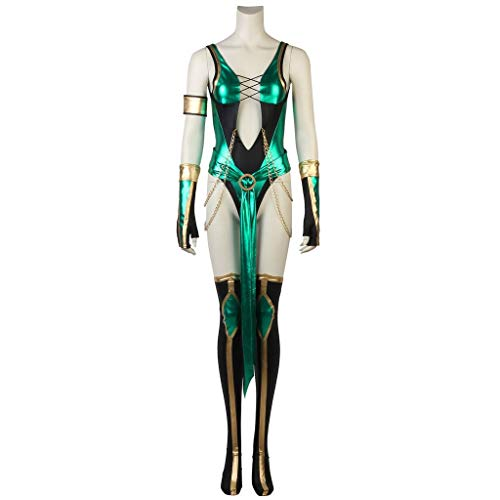 (CosplayDiy Women's Suit for Game Mortal Kombat X Jade Cosplay Costume)