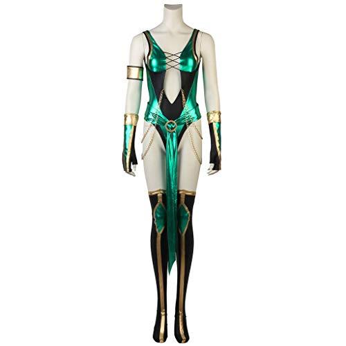 CosplayDiy Women's Suit for Game Mortal Kombat X Jade Cosplay Costume M ()