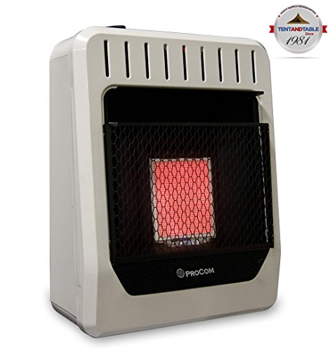 ProCom MN1PHG Ventless Natural Gas Heater Manual Control Wall Heater, 10,000 BTU - Gas Manual Vent