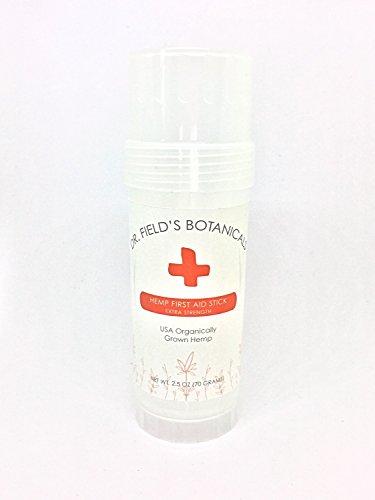 Dr. Field's Botanicals Hemp First Aid Stick - 200 mg Full-Spectrum Aerial Hemp Oils - 2.5 oz - Alleviate Burns, Bug Bites, Rash, Pain, Scrapes, Sunburn & More - 100% Satisfaction Guaranteed