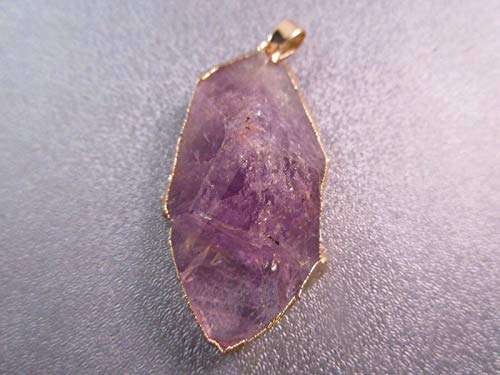 - Amethyst Faceted Freeform Pendant 1pc #ID-1014