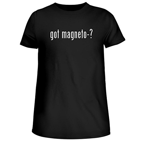 BH Cool Designs got Magneto-? - Cute Women's Junior Graphic Tee, Black, Large by BH Cool Designs