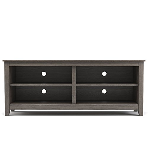 Gibson Living Mission 58 Inch Wood TV Console in Ash Grey