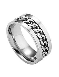 Bling Stars Tungsten Beveled Edges Center Chain Celtic Rings Jewelry Wedding Band Promise Rings