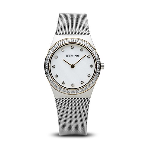 BERING Time 12430-010 Womens Classic Collection Watch with Mesh Band and scratch resistant sapphire crystal. Designed in Denmark.