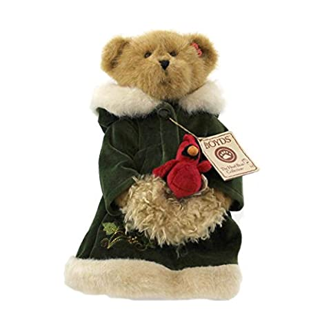 Boyds Bears Plush HOLLY BEAR OF THE MONTH 919895 Christmas Cardinal Bear - Boyds Bears Christmas