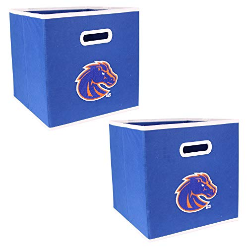 NCAA Collapsible Box Storage Bin Drawer (2 Pack) (Boise State Broncos) Boise State Broncos Collectibles