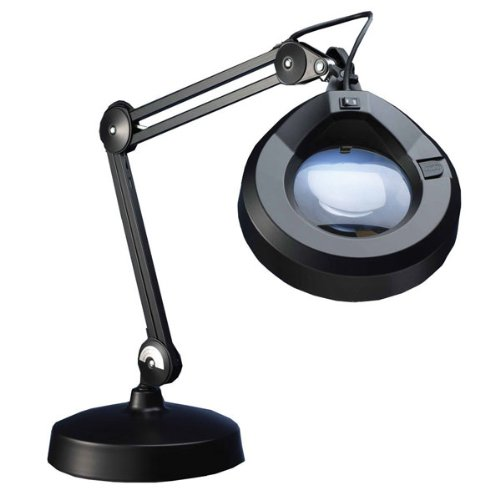 KFM Magnifier Lamp-30in Arm-5D 2.25x-Weighted Base-Blk