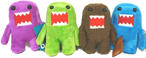 Domo 4 Plush Doll Set 8 inches - Brown, Blue, Green and - Domo Green