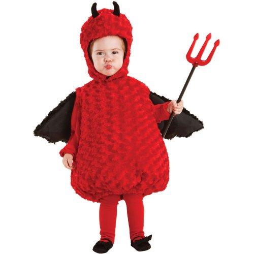 Underwraps Baby's Lil Devil Belly-Babies, Red/Black, Large ()