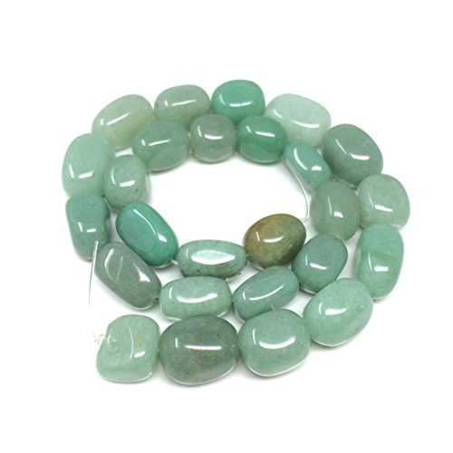Top Quality Natural Green Aventurine Gemstones Smooth Round Nugget Loose Beads ~13x10mm beads (~16
