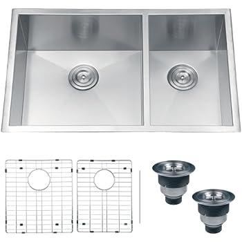 ruvati rvh7515 undermount 16 gauge kitchen sink double bowl 32 stainless steel. beautiful ideas. Home Design Ideas