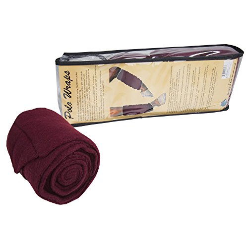 Intrepid International Polo Wraps – Full Set of 4 Wraps, Maroon