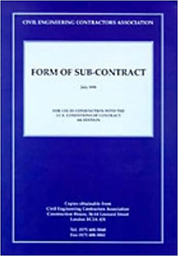 CECA Form of Sub-contract: For Use with ICE: Amazon co uk