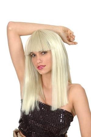 Perruque blonde avec frange femme: Amazon.