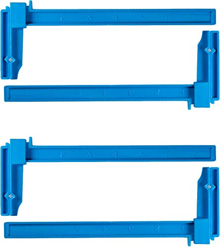 Excel Blades 7 Inch Plastic Bar Clamps, Adjustable for Hobby, Modeling Clamps, Hobby Tools for Model Building, Miniature Plastic Clamp, Made in USA, 4 Pack