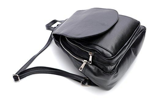 Pretty Nana - Bolso mochila  de Piel para mujer negro