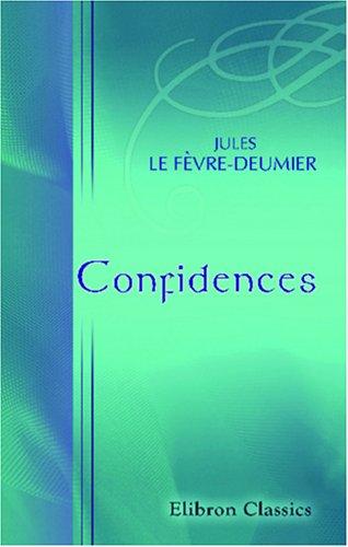 Confidences (French Edition) pdf