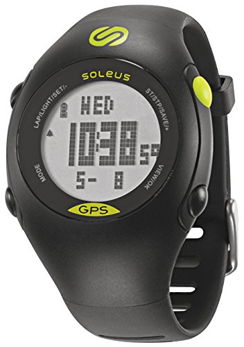 Soleus Mini Black/Lime GPS Activity/Calorie Tracker Watch with Integrated...
