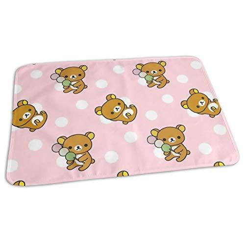 Emfig Premium Baby Diaper Changing Pads for Infant Fon Tekstura Art Mishka Anime Waterproof Portable Incontinence Pads Change Mat Great for Travel/Stroller/Bed/Car