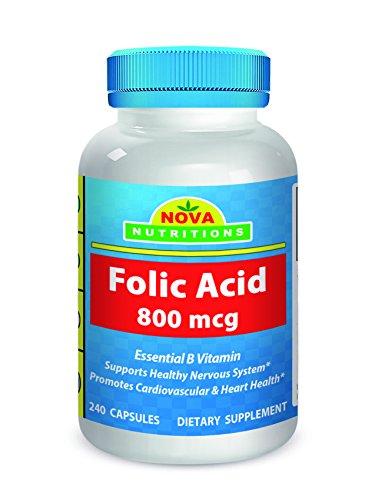 Nova Nutritions Folic Acid 800 mcg 240 Capsules
