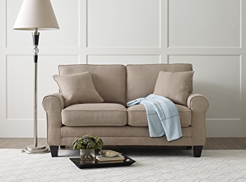 Serta Deep Seating Copenhagen 61″ Loveseat in Windsor Tan