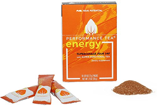 Performance Tea Energy - Instant Natural Energy Drink with Adaptogens(10 Instant Packets)Super Functional Tea with No Sugar and All-Natural Ingredients that Taste Great for Convenient Sustained Energy