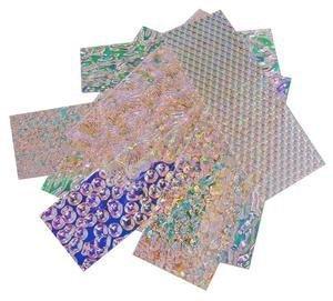 1 Oz. Wissmach Wafer Thin Dichroic Texture Scrap on Clear - 96 Coe iDichroic