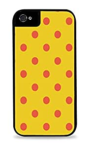 Yellow And Red Polka Dots Design Black 2-in-1 Protective Case with Silicone Insert for Apple iPhone 5 / 5S