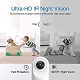 Security Camera Indoor, Goowls WiFi Camera for Home Security 1080P Pan/Tilt 2.4GHz Dog Camera Wireless IP Camera for Baby/Pet/Nanny Monitor Night Vision Motion Detection Two-Way Audio Works with Alexa