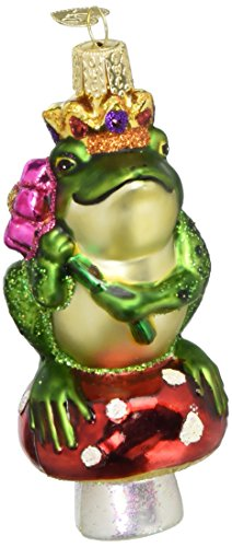 (Old World Christmas Frog Prince Glass Blown Ornament)