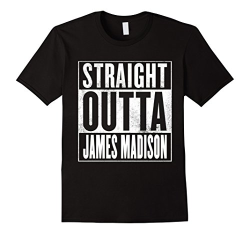 Men's Straight Outta James Madison T-Shirt 2XL Black