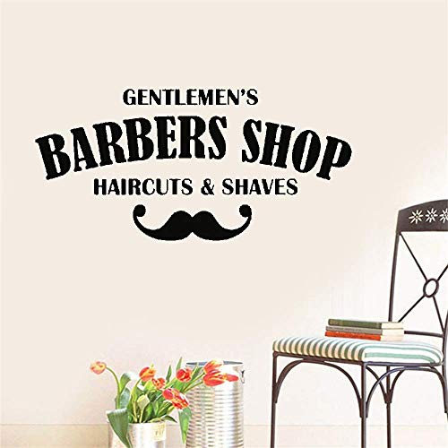 Vinyl Wall Sticker Decal Quote Home Decor Haircuts & Shaves Barber Shop Gentlemens Hair Men Salon Window Sign (Best Haircuts For Indian Men)
