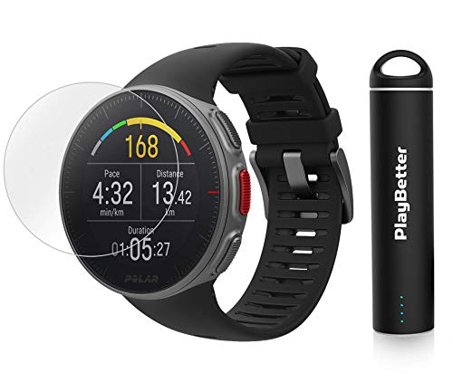 PlayBetter Polar Vantage V Pro Multisport Watch (Black) Power Bundle Portable Charger & Screen Protectors | GPS & Barometer | Heart Rate by PlayBetter (Image #6)
