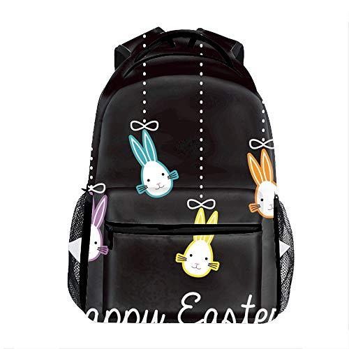 Happy Easter Print Children Girl School Backpack Shoulder Bookbags ()
