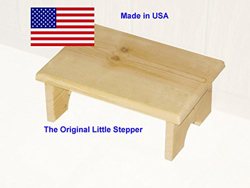 Small Wood Step Stool Made in USA - Handcrafted Wooden Step