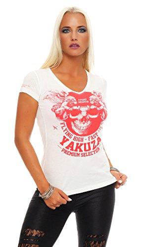Yakuza Premium camiseta para señoras GS-2138 blanco