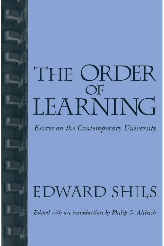 Order of Learning: Essays on the Contemporary University