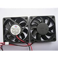 2 pcs Brushless DC Cooling Fan 12V 6015S 9 Blades 2 wire 60x60x15mm Sleeve-bearing Skywalking