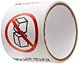 TapeCase''Do Not Stack'' Label - 50 per pack (1 Pack)
