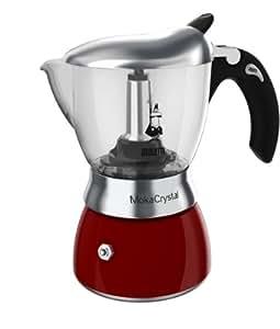 Bialetti Moka Crystal, Rojo - Máquina de café