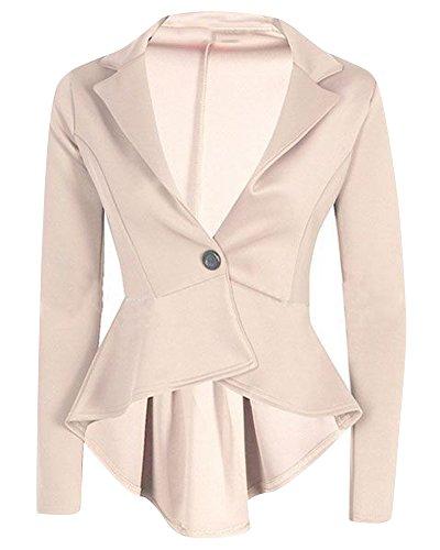 A Albicocca Del Slim Sportiva Tuta Cappotto Donna Colletto Della Vestibilità Irregolare V Giacca O6pwqvT