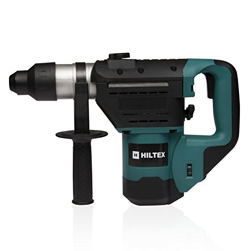 Hiltex 10513 1-1/2 Inch SDS Rotary Hammer Drill | Includes Demolition Bits, Flat and Point (Hammer Textured Center)