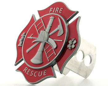 Firefighter Hitch Covers (Hitch Cover- Fire Fighter's Cross)