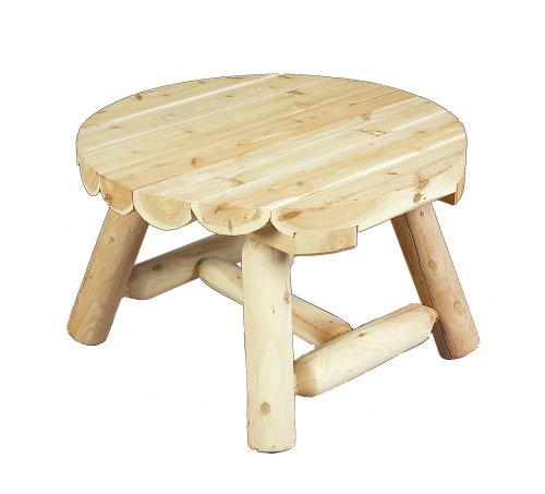 Cedarlooks 1100009 Log Round Coffee Table (Table Coffee Adirondack)