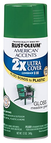 Rust-Oleum 284985 American Accents Ultra Cover 2X Gloss, Each, Meadow Green