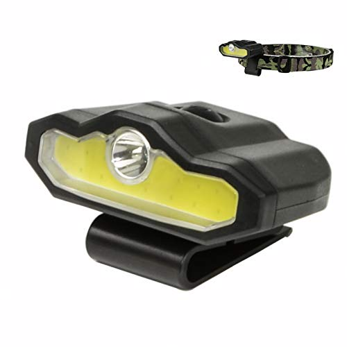 XULUOQI LED Cap Light, Portable Hands-Free Clip Cap Light - Rechargeable Headlamp Flashlight, Bright lumen light, hiking camping reading work fishing -