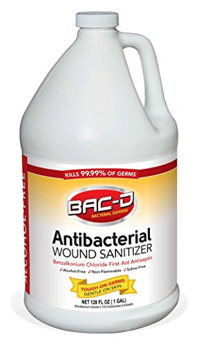 - BAC-D 631 Antibacterial Alcohol Free Wound Sanitizer, 1 Gallon Refill, 128 oz. (Pack of 1)